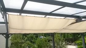 Dach Terrasse Windschutz Segel beige