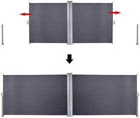 Doppel-Seitenmarkise
