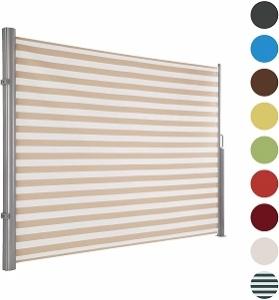 Windschutz Terrasse ausziehbar beige