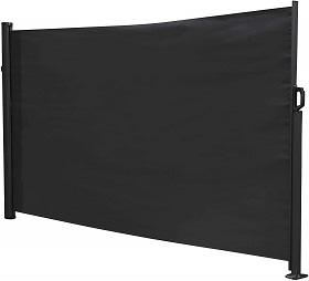 Windschutz Terrasse ausziehbar schwarz